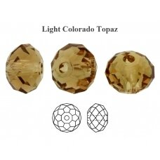 Preciosa Bead Bellatrix 6mm Light Colorado Topaz (6 vnt)