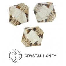 Preciosa Bead Rondell 10mm Crystal Honey (6 vnt)