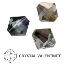 Preciosa Bead Rondell 10mm Crystal Valentinite (6 vnt)