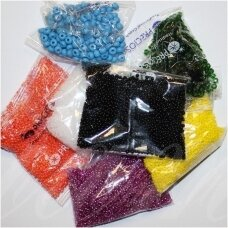 """""""Preciosa"""", czech seed beads, round shape, 09/0 ( 2.4mm - 2.8mm) size, mix collor 20 packets x about 50 gr. total about 1 kg."""