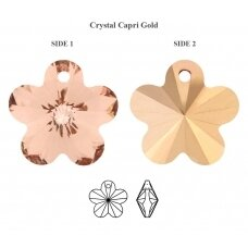 Preciosa Flower 1H 14mm Crystal Capri Gold (4 vnt)