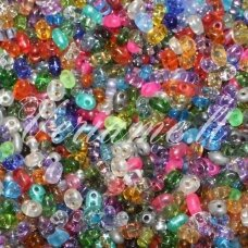 preciosa, twin shape, czech seed beads, mix, about 100 g.