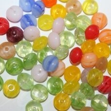 prstk92mix-baby-1-lentils various sizes, glass bead, mix colors, about 250 g.