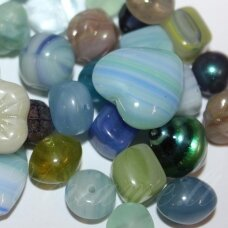 prstk92mix-water-empire various sizes, glass bead, mix colors, about 250 g.