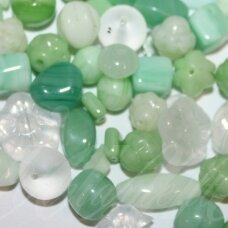 prstk92mix111-mojito various sizes, glass bead, mix colors, about 250 g.