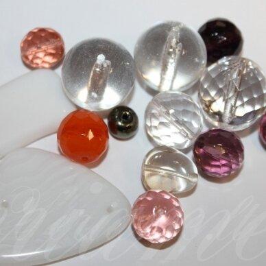 PRSTK92MIX-CARNIVAL įvairių dydžių, stiklinis karoliukas, MIX spalva, apie 250g.
