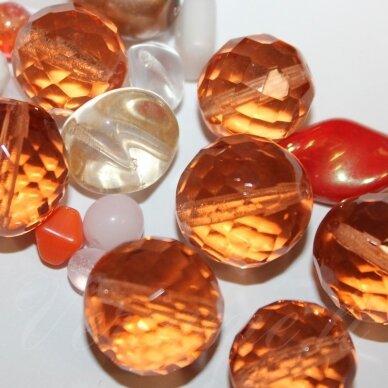 prstk92 mix-late-summer, įvairių dydžių, stiklinis karoliukas, mix spalva, apie 250 g.