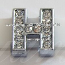 r0015 about 12 x 12 x 5 mm, letter h, transparent eyes, 1 pc.