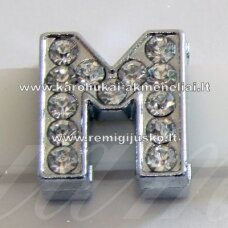 r0027 about 12 x 11 x 5 mm, letter m, transparent eyes, 1 pc.