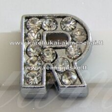 r0035 about 12 x 10 x 5 mm, letter r, transparent eyes, 1 pc.