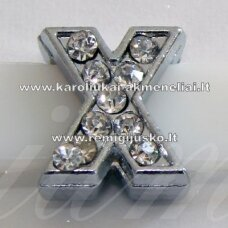 r0041 about 12 x 11 x 5 mm, letter x, transparent eyes, 1 pc.