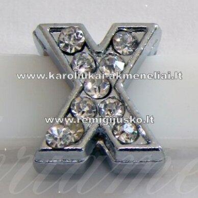 r0041 apie 12 x 11 x 5 mm, raidė x, akutės skaidrus, 1 vnt.