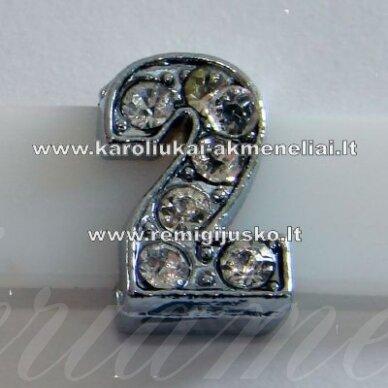 r0052 apie 12 x 7 x 5 mm, skaičius 2, akutės skaidrus, 1 vnt.