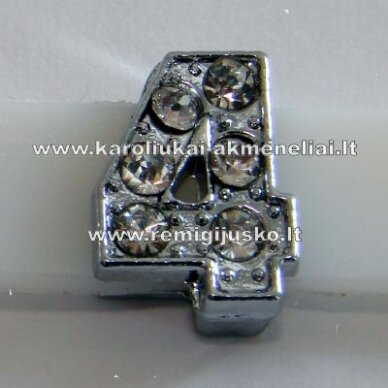 r0054 about 12 x 7 x 5 mm, number 4, transparent eyes, 1 pc.