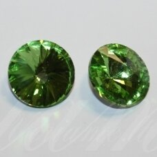 riv0004k-disk-08 about 8 mm, disk shape, transparent, green color, 12 pcs.