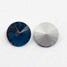 riv0012k-disk-10 apie 10 mm, disko forma, skaidrus, tamsi, mėlyna spalva, 8 vnt.