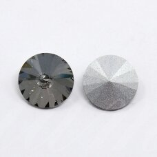 riv0014k-disk-14 about 14 mm, disk shape, transparent, grey color, 6 pcs.