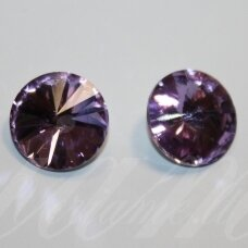 riv0017-disk-14 about 14 mm, disk shape, transparent, light, purple color, 6 pcs.