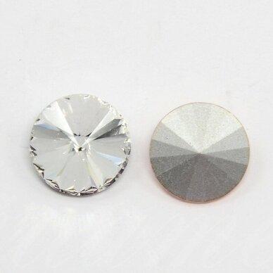 riv0006k-disk-14 apie 14 mm, disko forma, skaidrus, 6 vnt.