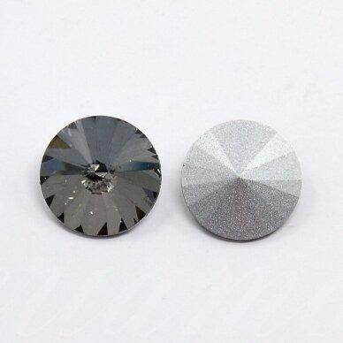 riv0014k-disk-12 apie 12 mm, disko forma, skaidrus, pilka spalva, 6 vnt.