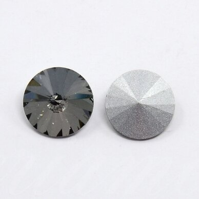 riv0014k-disk-14 apie 14 mm, disko forma, skaidrus, pilka spalva, 6 vnt.