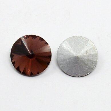 riv0033-disk-12 apie 12 mm, disko forma, skaidrus, bordo spalva, 6 vnt. 2