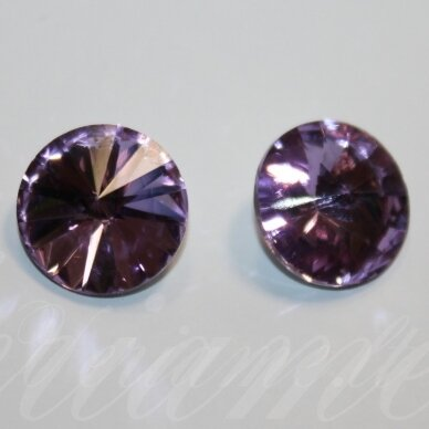 riv0017-disk-14 apie 14 mm, disko forma, skaidrus, šviesi, violetinė spalva, 6 vnt.