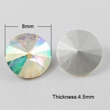 riv0011-disk-08 apie 8 mm, disko forma, skaidrus, ab danga, 12 vnt. 2