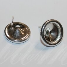 sid0007-15x16.5 about 15 x 16.5 mm, 925 silver the size of ss47 (10.54-10.91mm) rivoli, earring part, 2.101 g, 1 pc.