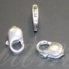sid0019-16x10x4 about 16 x 10 x 4 mm, 925 silver clasp, 2.033 g. 1 pc.