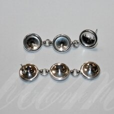 sid0076-38x8.8 about 38 x 8.8 mm, 925 silver ss29 (6.14-6.32mm) rivoli size, earring part, 1.648 g, 1 pc.