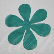 sif0007-gel-43x43. about 43 x 43 mm, flower shape, green color, chiffon, 10 pcs.