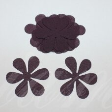 sif0033-gel-43x43. about 43 x 43 mm, flower shape, dark, lilac color, chiffon, 10 pcs.