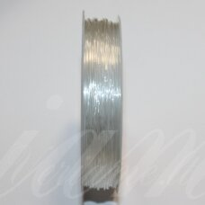 sil0001-1.0 about 1.0 mm, transparent, silicone thread, about 5 m.