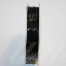 sil0002-0.8-6m about 0.8 mm, silicone thread, black color, about 8 m.