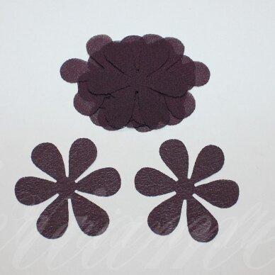 sif0033-gel-43x43 apie 43 x 43 mm, gėlytės forma, tamsi, alyvinė spalva, šifonas, 10 vnt.