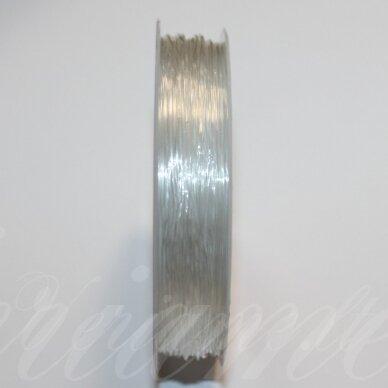 sil0001-0.8-6 m apie 0.8 mm, skaidrus, silikoninis siūlas, apie 6 m.