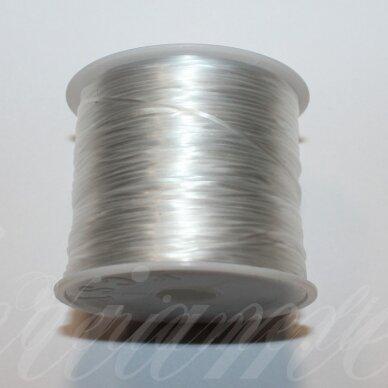 sil0023-0.5 apie 0.5 mm, balta spalva, daugiasluoksnis silikoninis siūlas, apie 10 m.