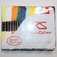 sl0001, įvairių spalvų, siūlų rinkinys