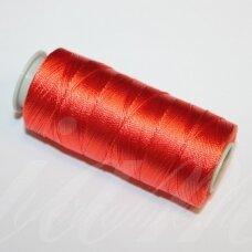 sl0104, raudona spalva, poliesterio siūlas, 25 g.