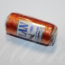 sl0244, oranžinė spalva, poliesterio siūlas, 25 g.
