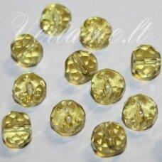 stk0023d apie 8 x 10 mm, rondelės forma, skaidrus, geltona spalva, stiklinis karoliukas, apie 21 vnt.
