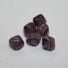 stk0202 apie 8 mm, bicone forma, marga, stiklinis karoliukas, 37 vnt.