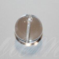 stk1187 apie 16 mm, apvali forma, skaidrus, stiklinis karoliukas, 4 vnt.