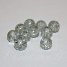 stk0328 apie 6 mm, apvali forma, daužtas, stiklinis karoliukas, apie 70 vnt.