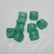 stk0412 apie 7 x 9.5 mm, rombo forma, šviesi, elektrinė spalva, marga, stiklinis karoliukas, 30 vnt.