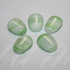stk0414 apie 16.5 x 12 x 7 mm, netaisyklinga forma, marga, stiklinis karoliukas, 10 vnt.