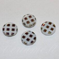 STK1063 apie 11 x 3 mm, disko forma, margas, stikliniai karoliukai, 32 vnt.