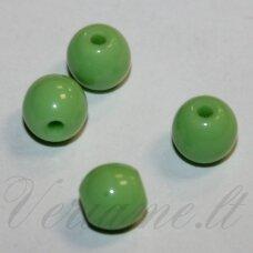 STK2149 apie 6 mm, apvali forma, salotinė spalva, stiklinis karoliukas, apie 70 vnt.