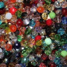 STKB-MIX06-7 apie 6 - 7 mm, apvali forma, briaunuotas, čekiškas stiklas, apie 200 gr.